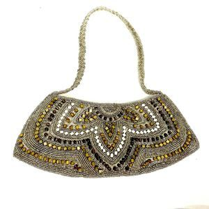 Kate Landry Beaded Evening Shoulder Handbag